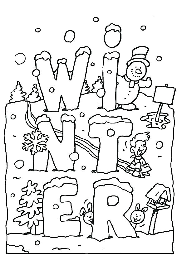 567x850 Printable Winter Coloring Pages Color Pages Coloring Pages Free