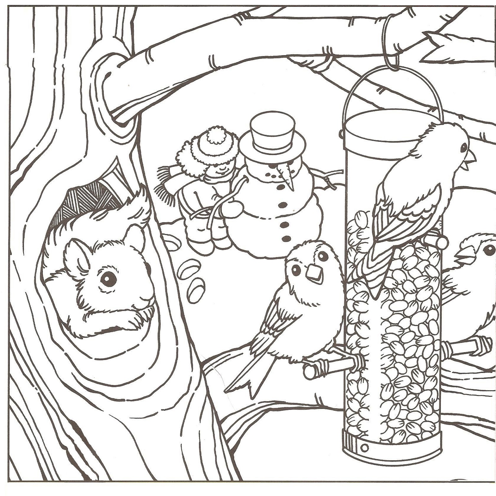 1600x1600 Winter Coloring Pages Learning Printable