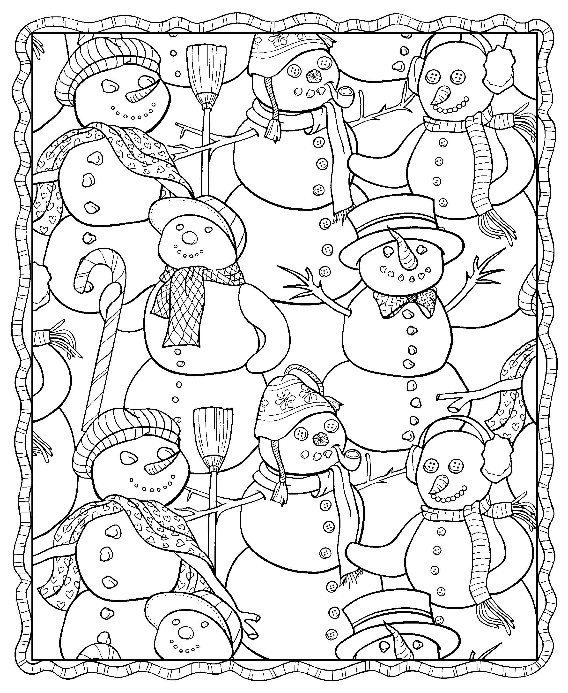 2349x2863 Winter Coloring Pages Adult Collection Coloring For Kids