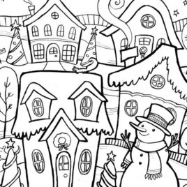 268x268 Winter Coloring Pages Adults Archives