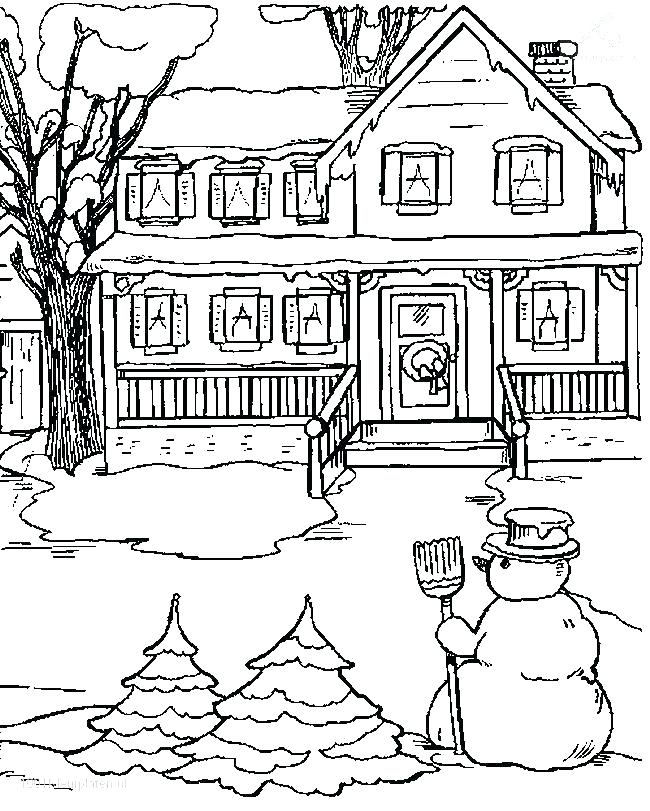 650x811 Winter Coloring Pages Adults Or Snowy Day Coloring Page Winter