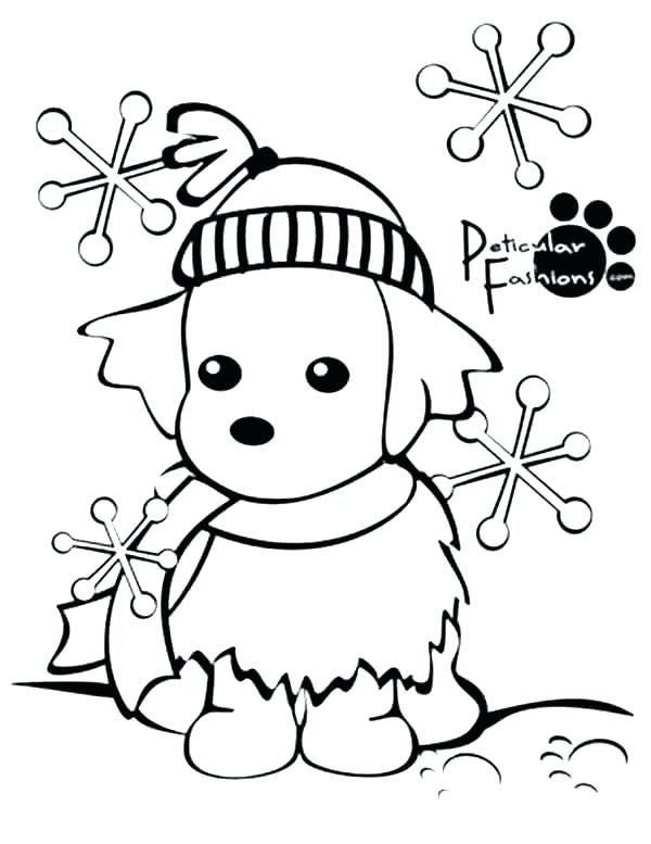 600x777 Winter Coloring Pages For Adults Winter Scene Coloring Pages