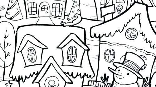 500x280 Winter Wonderland Coloring Pages Winter Coloring Pages For Adults
