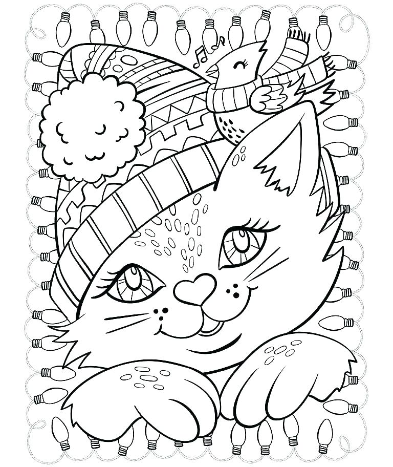 768x912 Winter Coloring Pages