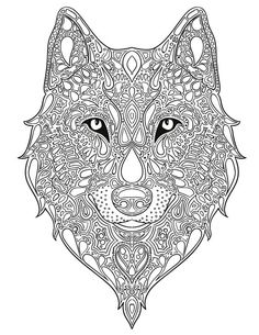 236x305 Print High Quality Wolf Mandala Adult Coloring Pages