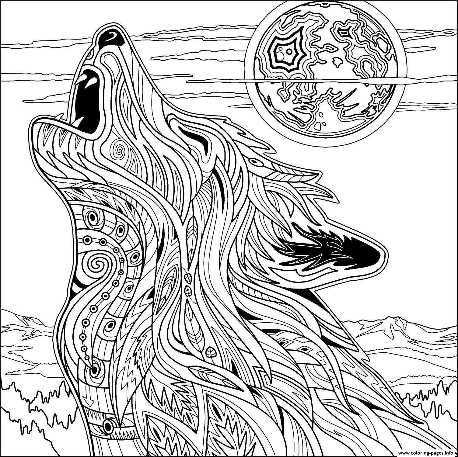 1505x1503 Redoubtable Adult Coloring Pages To Print Wolf For Printable