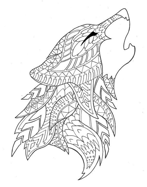 570x722 Wolf Coloring Page Kidsroom, Design Color And Wolf