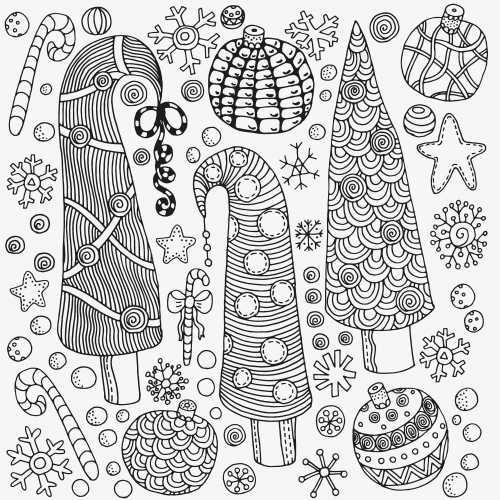 Advanced Christmas Coloring Pages At Getdrawings Free Download