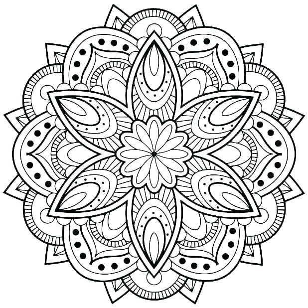 618x618 Advanced Mandala Coloring Pages Together With Mandala Coloring
