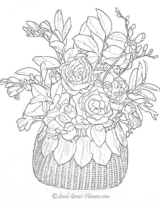 612x792 Flower Page Printable Coloring Sheets To See More Flower