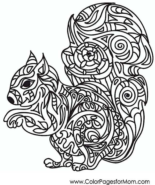640x762 Animal Coloring Page Mandala Animal, Coloring