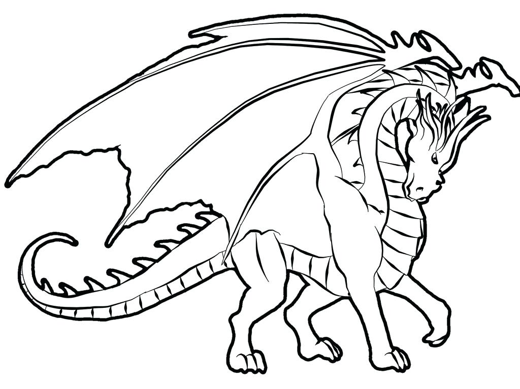 1024x767 Coloring Pages Of Dragons Realistic Dragon Coloring Pages Coloring