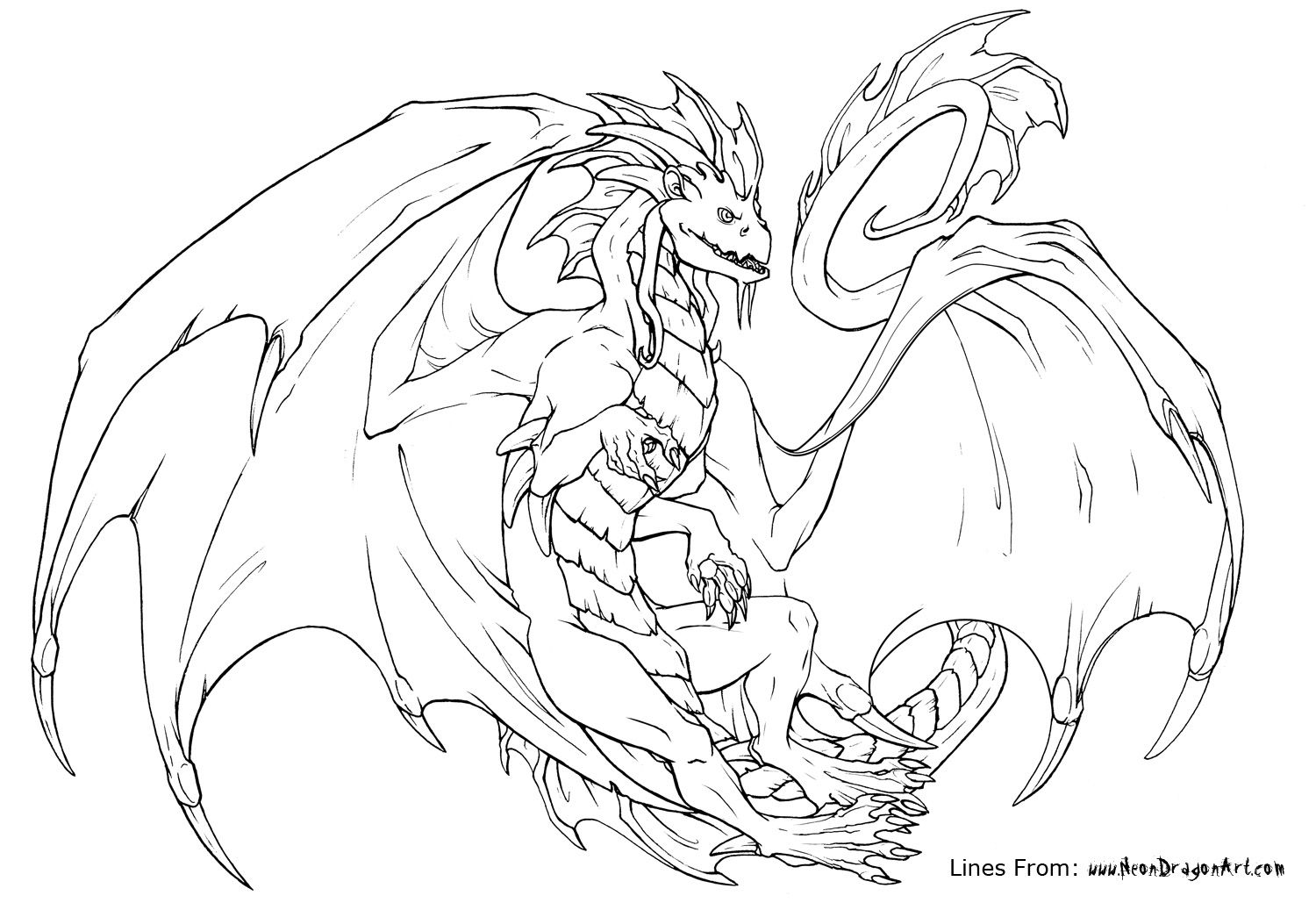 1500x1037 Advanced Dragon Coloring Pages