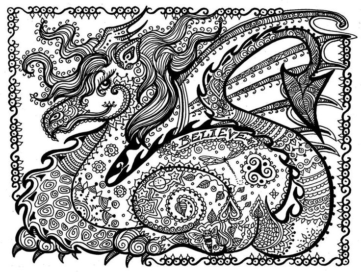 736x555 Free Printable Coloring Pages For Adults Advanced Dragons Color Bros