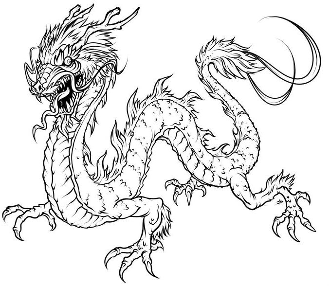 678x588 Free Printable Dragon Coloring Pages For Adults Coloring Page