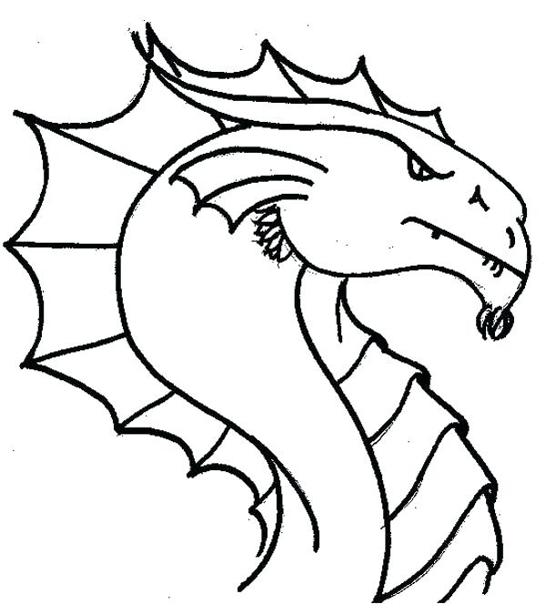 600x664 Printable Dragon Coloring Pages Free Dragon Coloring Pages