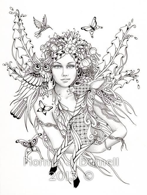 Advanced Fairy Coloring Pages at GetDrawings.com   Free for personal ...