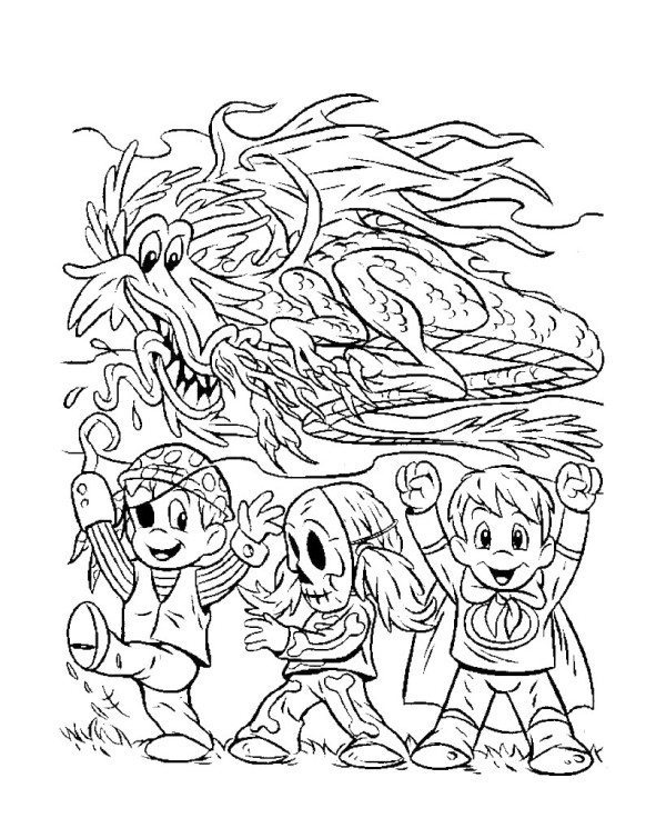 600x736 Halloween Coloring Pages Advanced