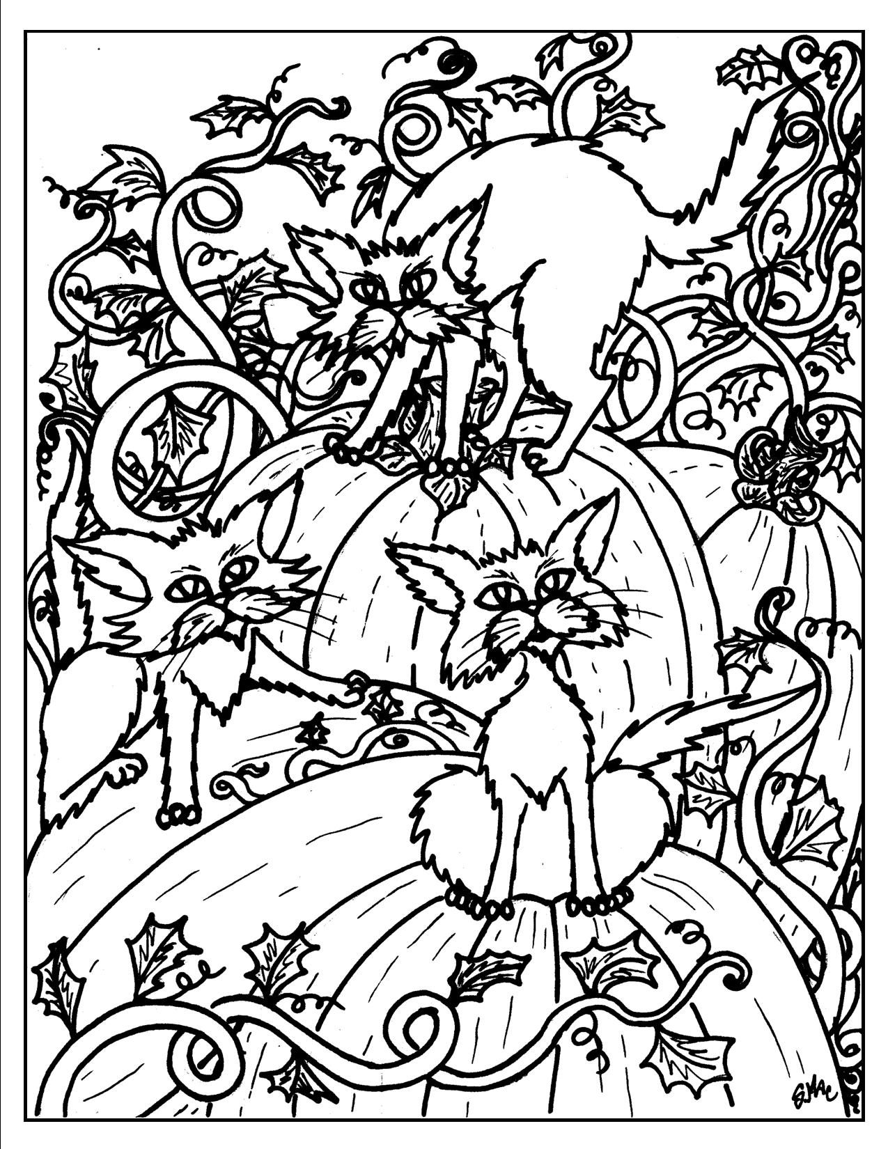 1275x1650 Halloween Coloring Pages Colouring Adult Detailed Advanced