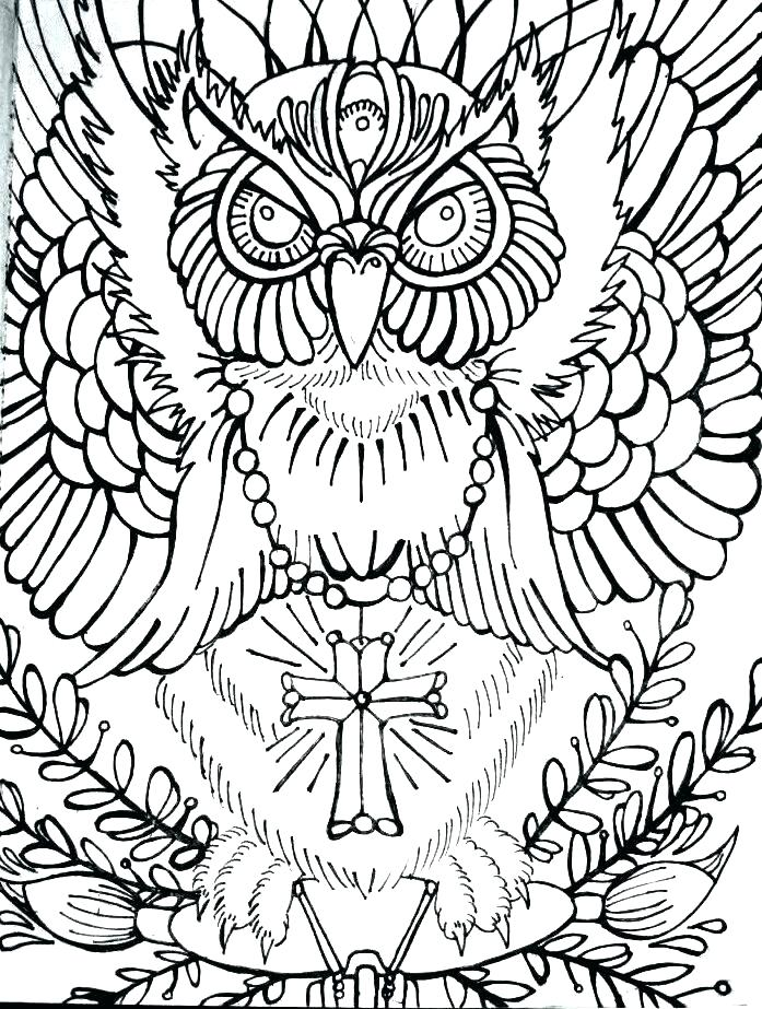 697x923 Halloween Owl Coloring Pages Coloring Pages Of Owls Advanced Owl