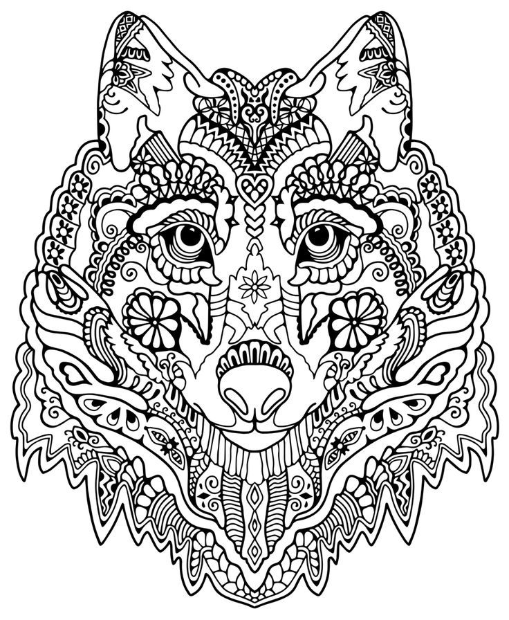 736x896 Pattern Animal Coloring Pages Download And Print For Free