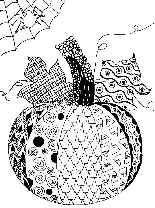 541x722 Adult Halloween Coloring Pages Perfect Advanced Halloween Coloring