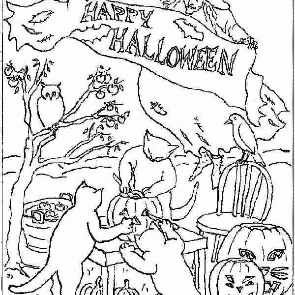 600x600 Advanced Halloween Coloring Pages Advanced Halloween Coloring