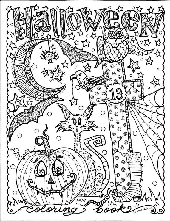 Advanced Halloween Coloring Pages At Getdrawings Free Download