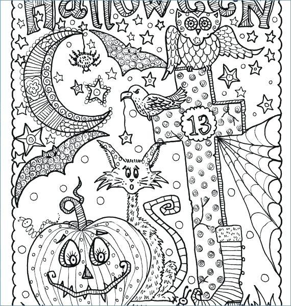570x600 Halloween Coloring Books
