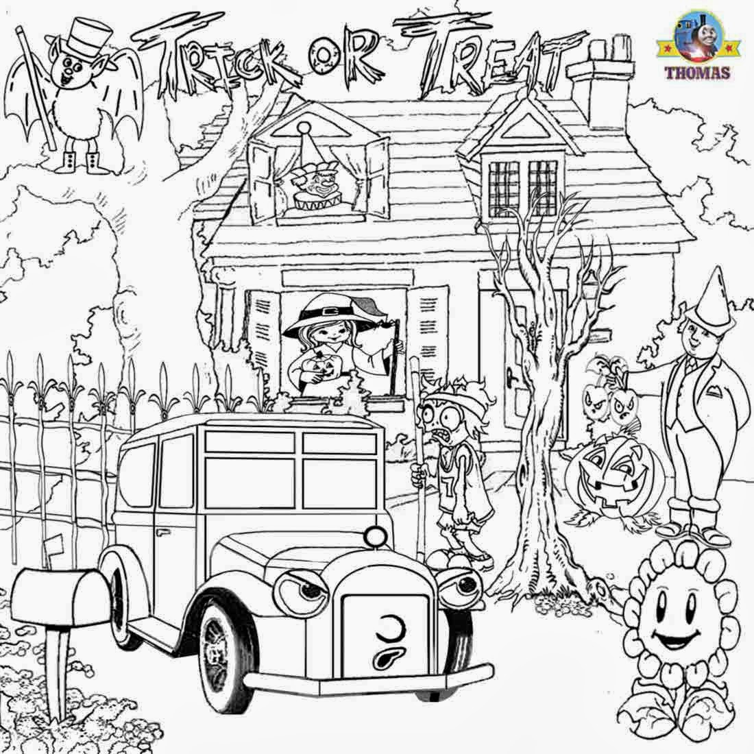 1100x1100 Advanced Halloween Coloring Pages