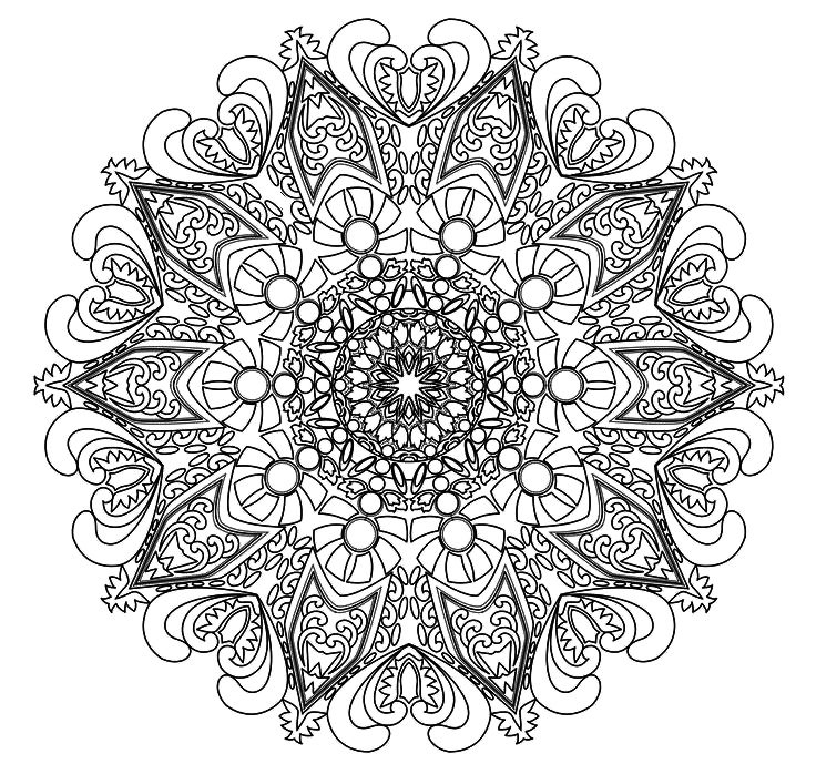 Advanced Mandala Coloring Pages Printable At GetDrawings Free Download