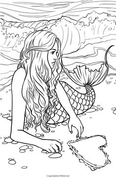 Advanced Mermaid Coloring Pages
