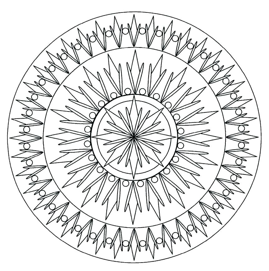 863x868 Animal Mandala Coloring Pages Online Cool Advanced In Site With P