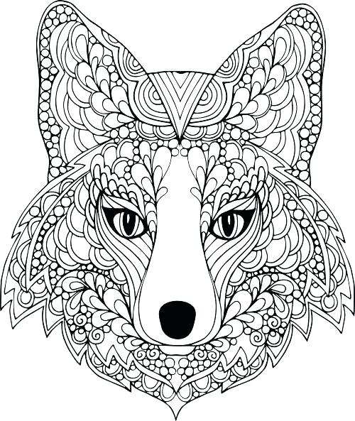500x593 Coloring Pages Animals Free Coloring Pages Animals For Adults