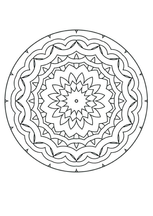 601x850 Mandala Coloring Page Advanced Coloring Pages Mandala Mandala