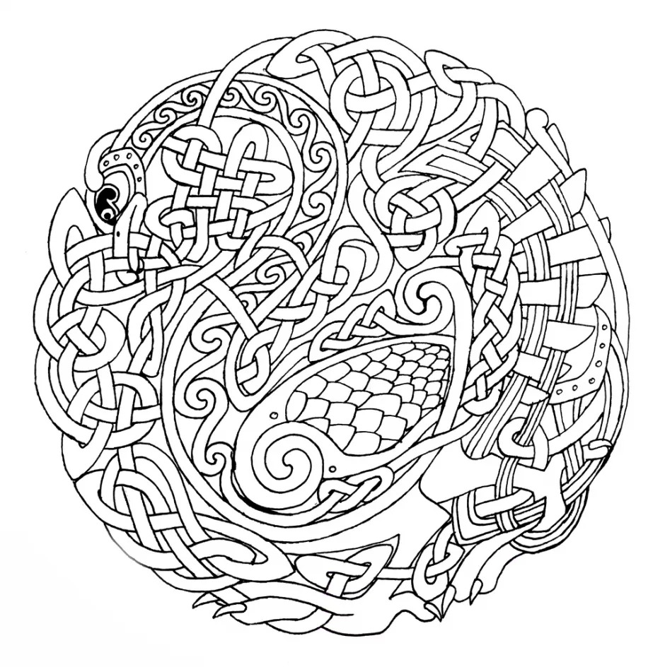 940x944 Mandala Coloring Pages Online