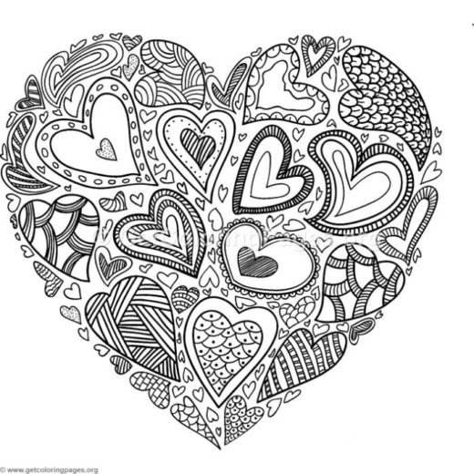 520x520 Advanced Online Coloring Pages