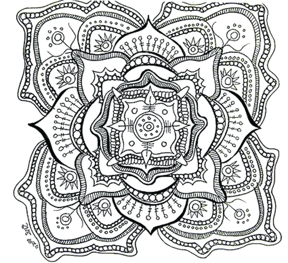 1000x913 Coloring Page Advanced Mandala Coloring Pages Free Printable