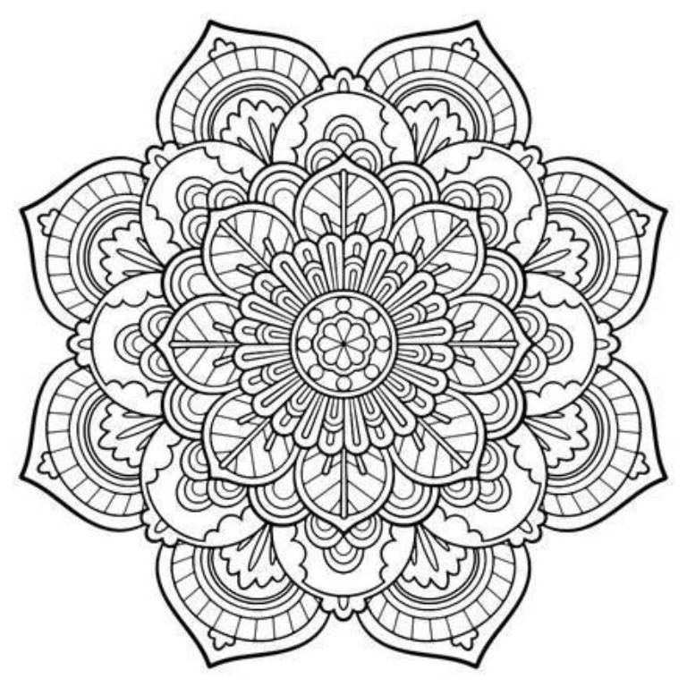 768x768 Free Printable Coloring Pages For Adults Advanced Just Colorings