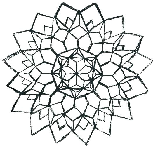 524x500 Advanced Geometric Coloring Pages Advanced Geometric Coloring