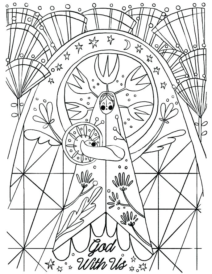 687x889 Advent Colouring Book Printable Advent Coloring Pages Advent