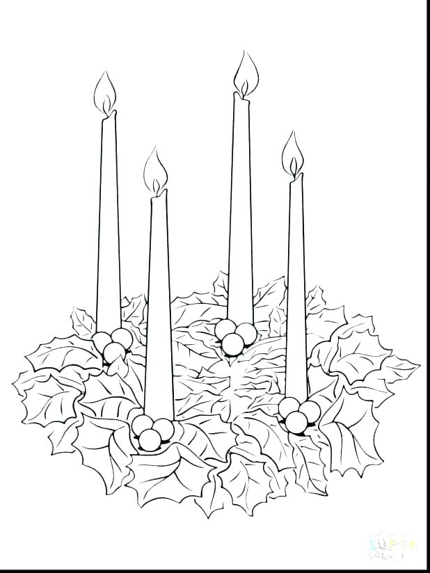 Advent Wreath Coloring Page At Getdrawings Com Free For