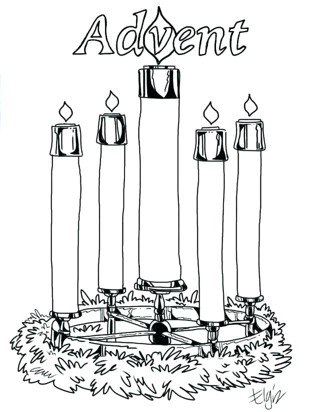 618x824 Advent Coloring Pages To Print Advent Wreath Coloring Page