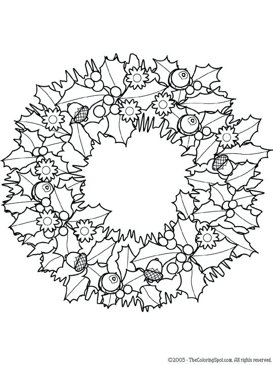 540x720 Wreath Coloring Page Coloring Pages For Adults Advent Wreath