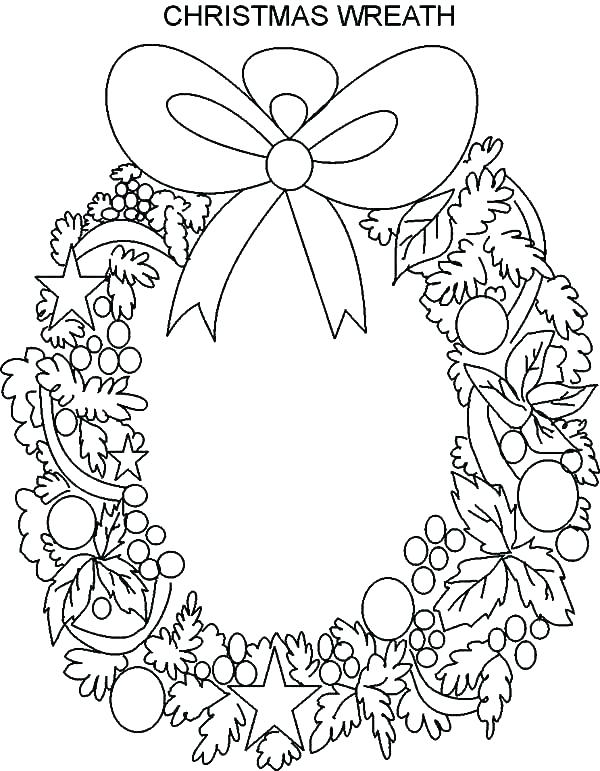 600x771 Wreath Coloring Pages Advent Wreath Coloring Pages Wreath Coloring