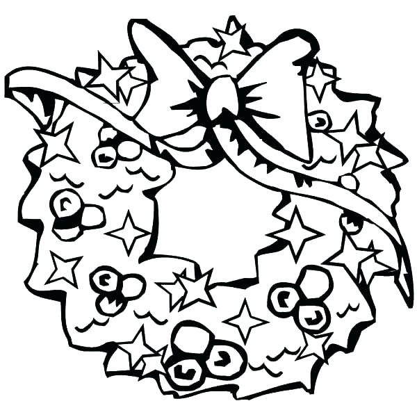 600x600 Wreath Coloring Wreath Coloring Pages Wreath Coloring Pages Lovely