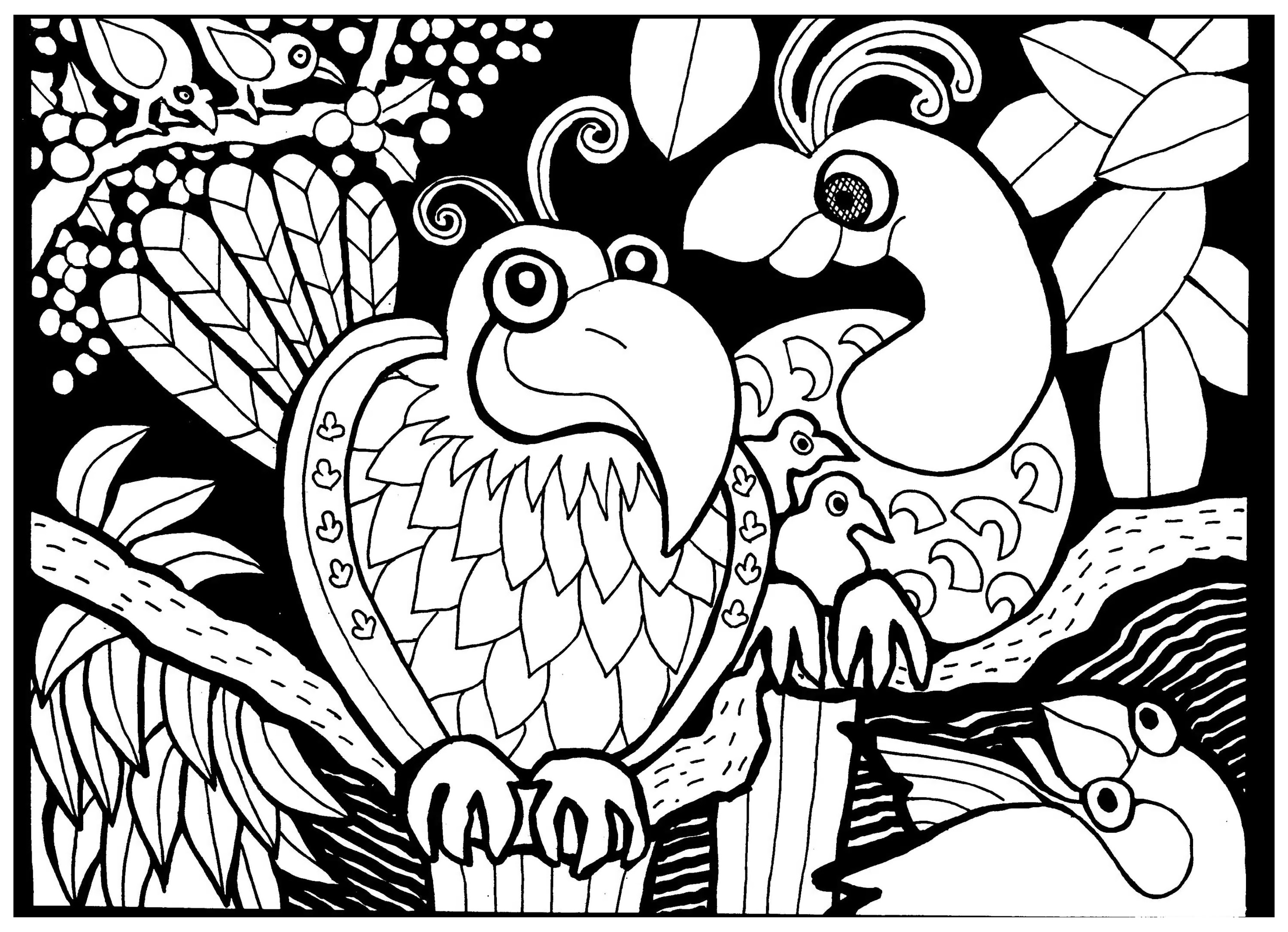 3000x2172 Africa Coloring Pages For Adults Justcolor