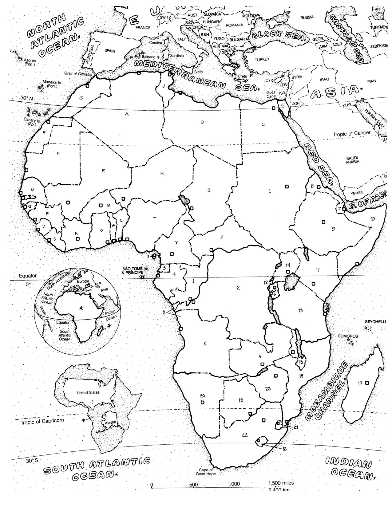 1275x1650 Africa Map