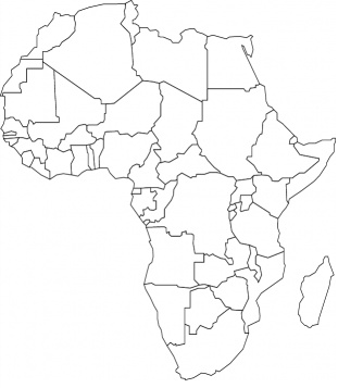 311x357 Printable Africa Coloring Page