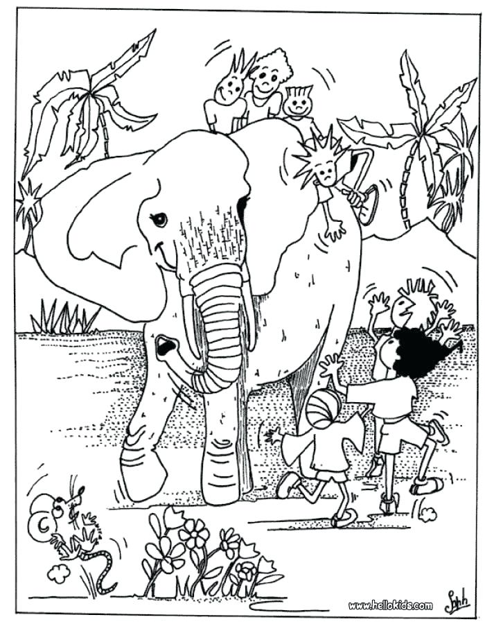 700x900 Africa Coloring Page